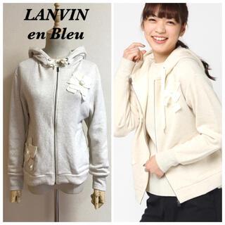 ランバンオンブルー(LANVIN en Bleu)のLANVIN en Bleu フラワーモチーフパーカー(パーカー)