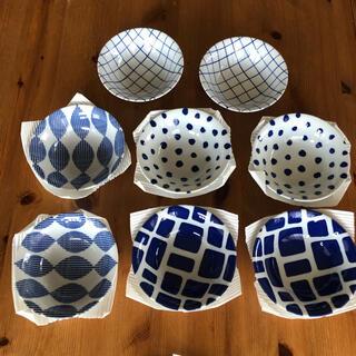 アクタス(ACTUS)の美濃焼き 藍色 お皿 中皿 豆皿 プレート 8枚 セット(食器)
