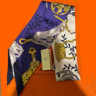 エルメス(Hermes)の2021年 新作ツイリー エルメス 新品未使用 marine(バンダナ/スカーフ)