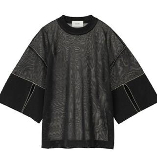 ステュディオス(STUDIOUS)のclane シースルートップス黒(Tシャツ(半袖/袖なし))