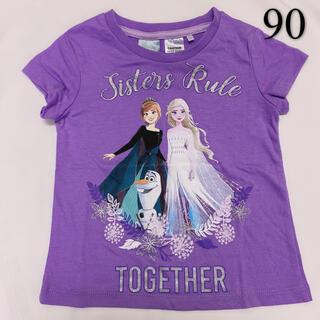 アナトユキノジョオウ(アナと雪の女王)の90新品/海外限定/ディズニー/アナと雪の女王 ♡半袖 Tシャツ(Tシャツ/カットソー)
