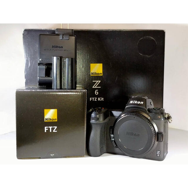 Nikon(ニコン)のNikon z6 + 新品ftzマウントアダプター ボディ 本体 スマホ/家電/カメラのカメラ(ミラーレス一眼)の商品写真