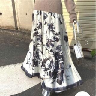 アメリヴィンテージ(Ameri VINTAGE)のADELE FLARE INFLATE SKIRT S アメリ(ロングスカート)