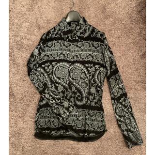 イサムカタヤマバックラッシュ(ISAMUKATAYAMA BACKLASH)の美品✨BACKLASHストレッチペイズリー柄シャツ(シャツ)