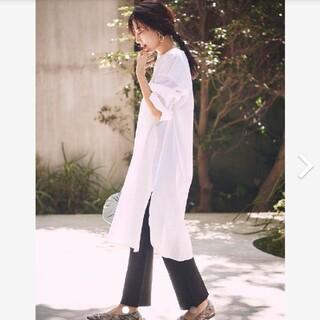 ミラオーウェン(Mila Owen)の新品タグ付 シワシャツワンピ×ニットスキニーパンツセット S Mila Owen(セット/コーデ)