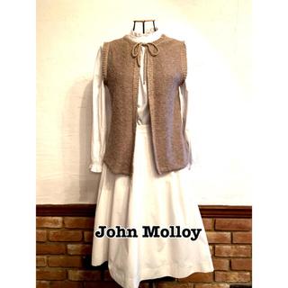 John Molloyジョンモロイベスト前後どちらでもきれます!麻コットン(ベスト/ジレ)