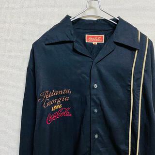 コカコーラ(コカ・コーラ)の一点物 90年代vintage Coca-Cola コカコーラ 刺繍ロゴ シャツ(シャツ)