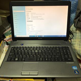 エプソン(EPSON)の早いもの勝ち ノートパソコン Corei5 メモリー6G Office搭載(ノートPC)