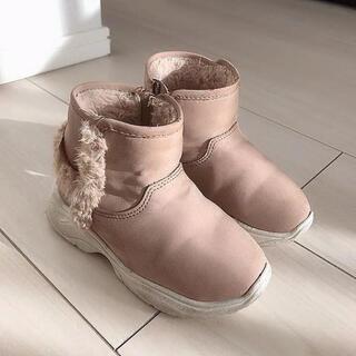 ザラキッズ(ZARA KIDS)のザラベビー 軽量 ブーツ くすみピンク(ブーツ)