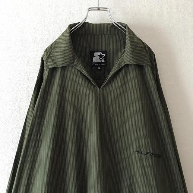 XLARGE(エクストララージ)のXLARGExスターターブラックレーベル★プルオーバー ★シャツ型ジャケット メンズのジャケット/アウター(ナイロンジャケット)の商品写真