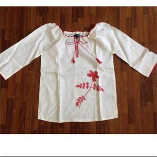 アンティックバティック(Antik batik)の新品未使用!ANTIK BATIK 刺繍シャツ M ホワイト(シャツ/ブラウス(長袖/七分))