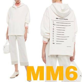 エムエムシックス(MM6)のMM6 マルジェラ バックプリントフーディー(パーカー)