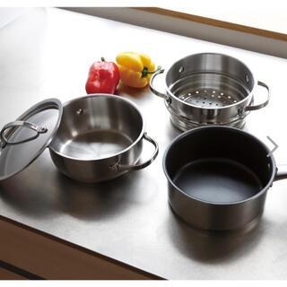 マイヤー(MEYER)の<18cm> マイヤー ナイス4ピースセット(鍋/フライパン)