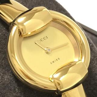 グッチ(Gucci)の1.超美品 グッチ GUCCI 時計 1400L ゴールド(腕時計)