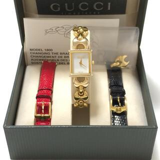 グッチ(Gucci)の3.美品 グッチ GUCCI 時計 着せ替え 1800L(腕時計)
