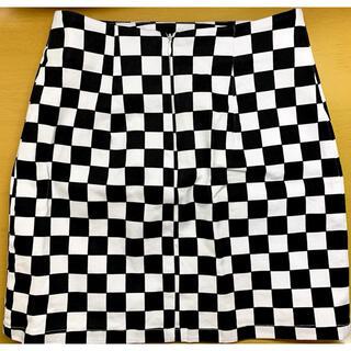スピンズ(SPINNS)のブロックチェック タイトスカート(ミニスカート)