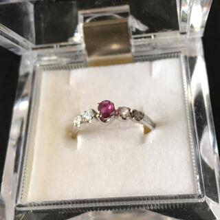 ルビーダイヤモンドリング pt900   0.24ct 13号(リング(指輪))