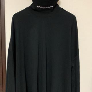 ピースマイナスワン(PEACEMINUSONE)のpeaceminusone 黒タートルネック(Tシャツ/カットソー(七分/長袖))