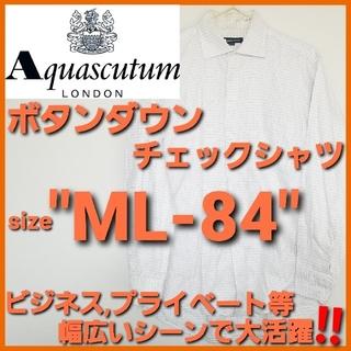 アクアスキュータム(AQUA SCUTUM)のAquascutum アクアスキュータム✨ボタンダウン チェックシャツ‼️(シャツ)