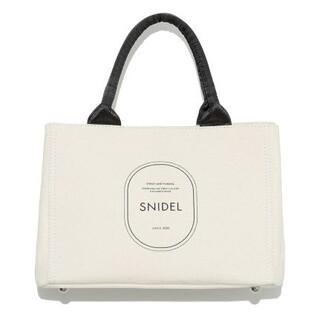 スナイデル(snidel)の新品タグ付 キャンパスエコバッグ 白 白黒 SNIDEL(トートバッグ)