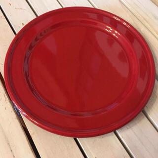 エミールアンリ(EmileHenry)のエミールアンリ 赤い大皿 ディナープレート(食器)