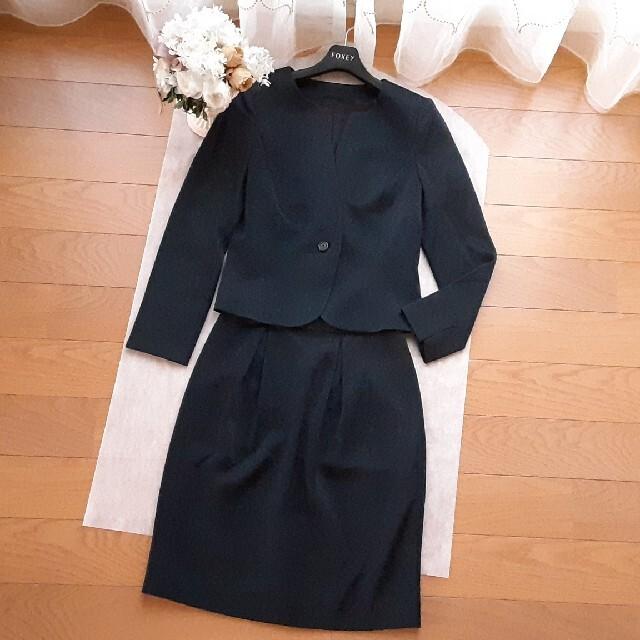 ANAYI(アナイ)の*美品* アナイ ANAYl ノーカラー スーツ セットアップ アンタイトル レディースのフォーマル/ドレス(スーツ)の商品写真