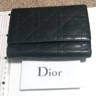 クリスチャンディオール(Christian Dior)のChristian Dior クリスチャン・ディオール 三つ折り財布 カナージュ(財布)