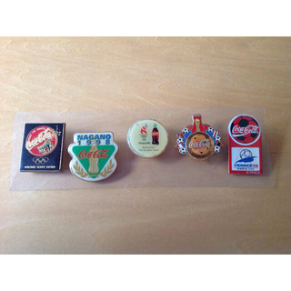 コカコーラ(コカ・コーラ)のコカコーラ ピンバッチ 1990年代 (5個)(バッジ/ピンバッジ)