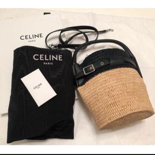 セリーヌ(celine)の新品未使用 セリーヌ  ビッグバッグ バケット ナノ セリーヌ お箱付き(かごバッグ/ストローバッグ)