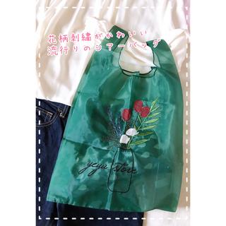 ♡チューリップ トートバッグ  花柄 シースルー 韓国雑貨♡(トートバッグ)