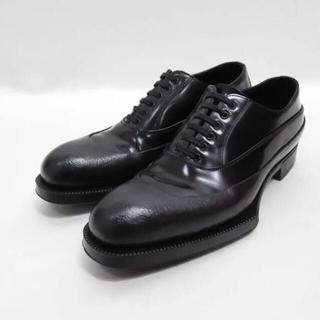 PRADA - PRADA 12aw プラダ ラバーソール レザー シューズ 7 ブーツ