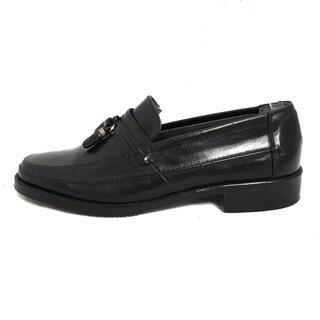 サンローラン(Saint Laurent)のイヴサンローラン ローファー 24美品  - 黒(ローファー/革靴)