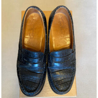 ジェーエムウエストン(J.M. WESTON)の断捨離の為お値下げしました!【J.M.WESTON】クロコダイルシューズ(ローファー/革靴)