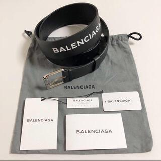 バレンシアガ(Balenciaga)のBALENCIAGA バレンシアガ ロゴ レザー ベルト 美品(ベルト)