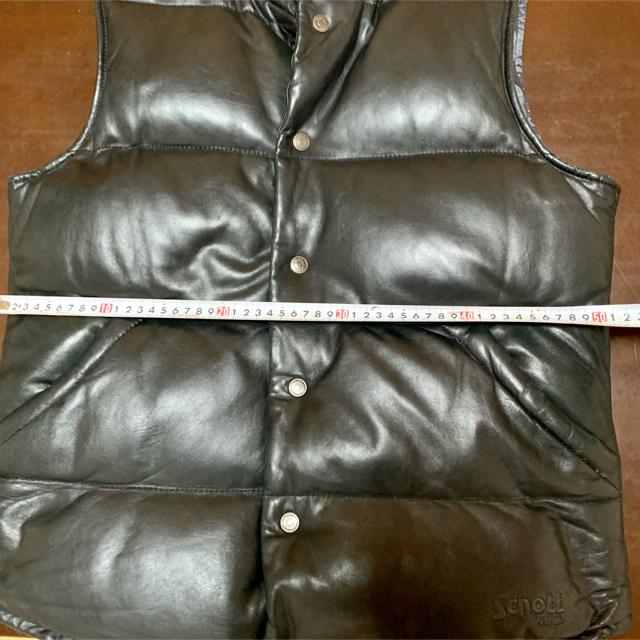 schott(ショット)の【★値下げ★】ショット レザー ダウンベスト Lサイズ メンズのジャケット/アウター(ダウンベスト)の商品写真