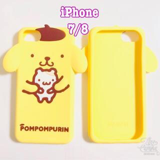 ポムポムプリン(ポムポムプリン)の新品 ♡ ポムポムプリン iPhone7 iPhone8 ケース ♡耳デザイン(iPhoneケース)