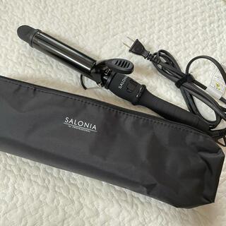 salonia カールヘアアイロン 32mmオールブラック(ヘアアイロン)