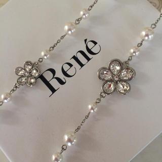 ルネ(René)のRene♡お花ロングネックレス(ネックレス)