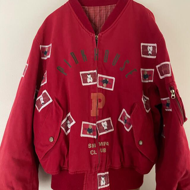 PINK HOUSE(ピンクハウス)のピンクハウス❤️お座りくまちゃんのロゴワッペンが可愛いブルゾン❤️ レディースのジャケット/アウター(ブルゾン)の商品写真