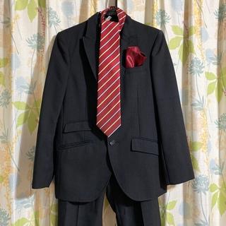 ヒロミチナカノ(HIROMICHI NAKANO)のヒロミチナカノ 男児スーツ 黒 セット 165cm クリーニング済(ドレス/フォーマル)