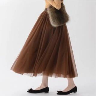 ツルバイマリコオイカワ(TSURU by Mariko Oikawa)の美品 ツルバイマリコオイカワ チュールスカート (ロングスカート)