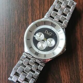 ドルチェアンドガッバーナ(DOLCE&GABBANA)の【D&G】ドルチェ&ガッバーナ★メンズ・クロノグラフ腕時計(付属品付)ジャンク品(腕時計(アナログ))