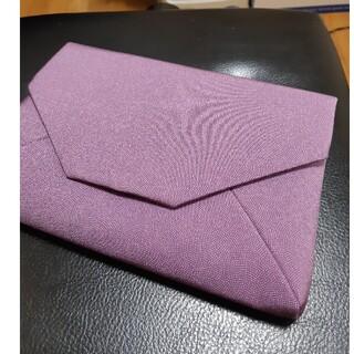 江戸小紋 鮫小紋 数寄屋袋 正絹 紫 和装 着物 御朱印帳(ポーチ)
