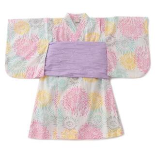 プティマイン(petit main)のプティマイン ナルミヤ 花火柄浴衣 130(甚平/浴衣)