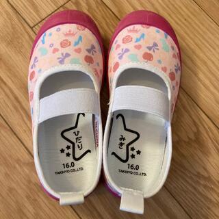 ディズニー(Disney)の上履き 上靴 16センチ ディズニープリンセス ピンク 美品(スクールシューズ/上履き)