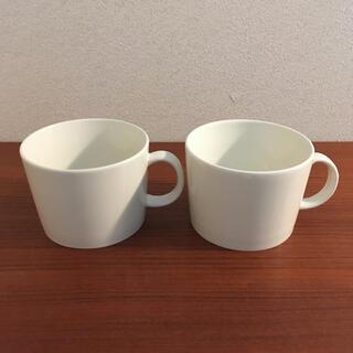 イッタラ(iittala)のマグカップ 400ml ホワイト ペア(グラス/カップ)