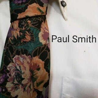 ポールスミス(Paul Smith)の美品★ポールスミスロンドンPaul Smith★美しい花柄★高級シルクネクタイ★(ネクタイ)