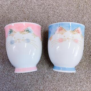 猫 ペア 湯呑み セット(グラス/カップ)