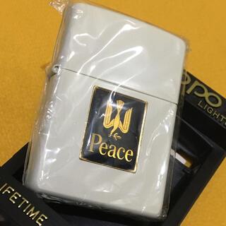 ジッポー(ZIPPO)のZIPPO PEACE パールホワイト 純白 限定 新品未使用 美品(タバコグッズ)