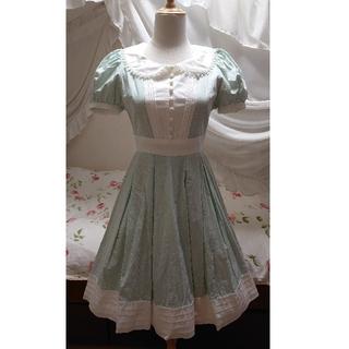 ヴィクトリアンメイデン(Victorian maiden)のVictorian maiden ギンガムフリルタックドレス ミント(ひざ丈ワンピース)